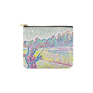 Levi Thang Fishing Design 8 Carry-All Pouch 6''x5''