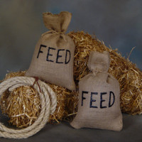 Country Western    Burlap Feed sacks & Lasso    Photo Prop, Photography prop, Cowboy,Farm,Country,Western