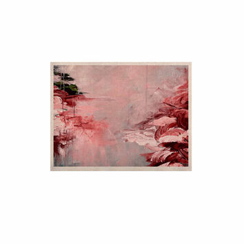"Ebi Emporium ""Winter Dreamland 5"" Red Gray KESS Naturals Canvas (Frame not Included)"