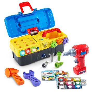 Kids, Baby, Toddlers V-Tech Educational Drill and Learn Toolbox Workbench Toy