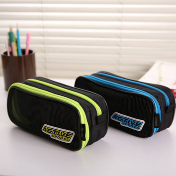 2016 New High Quality Big Pen Curtain Multifunctional Pencil Case Super Large Capacity Stationery Bags Box 04854