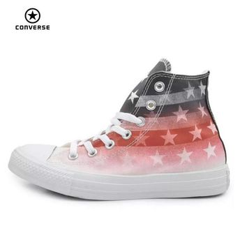 Original Converse all star shoes national flag Color matching high men women's sneaker