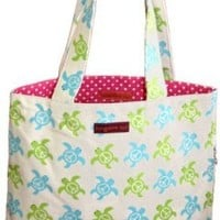 Bungalow360 Eva Sea Turtle Reversible Vegan Tote Bag