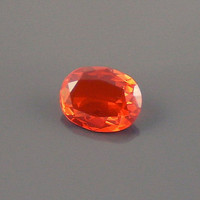 Fire Opal: 1.11ct Mexican Cherry Red Orange Oval Shape Gemstone Live Life in Color Rarity Beauty Integrity Artistic Color Builds Silver O42