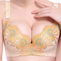 Hot Bralette Comfortable Embroidery Sexy Bra [6050368385]