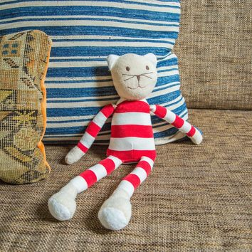 Natural Kids Toy Cat in Stripes