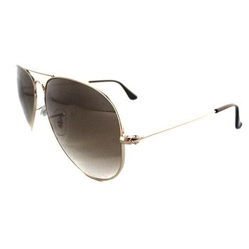 Ray-Ban Sunglasses Aviator 3025 001/51 Gold Brown Gradient Small 55mm
