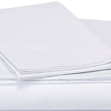 DaDa Bedding White Fitted & Flat Bed Sheets Set & Pillow Cases (FSFS098765)