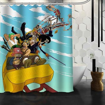 Cool Anime One Piece Custom Made Design Bath Waterproof Shower Curtain Bathroom Products Curtains 48x72, 60x72, 66x 72 inches