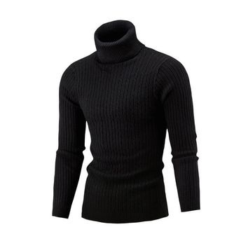 NEW 2018 Winter Mens  Fashion  Sweaters and Pullovers Men Brand Sweater Male Outerwear Jumper Knitted Turtleneck Sweaters M-XXL