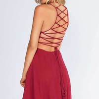 Roxy Dress - Burgundy