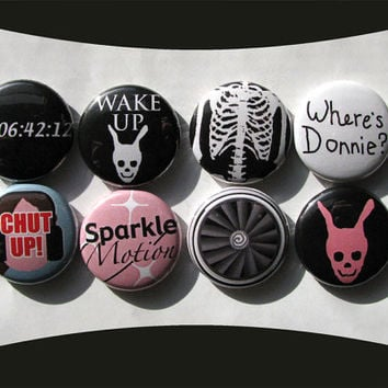 Donnie Darko Buttons or Magnets set of 8 Don't be a by cowboygoods