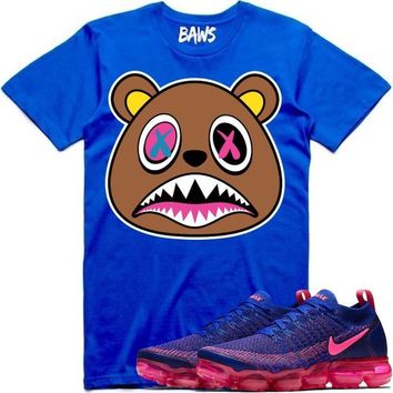 CRAZY BAWS Royal Blue Sneaker Tees Shirt - Nike Air VaporMax Racer Blue
