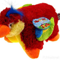 """Pillow Pets Pee Wees Tropical Parrot Seen On TV 2011 11"""" Stuffed Animal Toy NWT"""