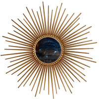 Chaty Of Vallauris Gold Starbust Mirror