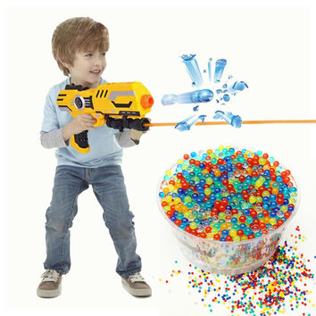 10000pcs Colorful Water Gun Paintball Bullet Water Beads Magic Jelly Balls Mix Color For Water Gun Pistol Toys Accessories