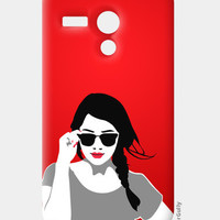 Girl in Red Vector Illustration Moto G Cases | Artist : Sukhmeet Singh