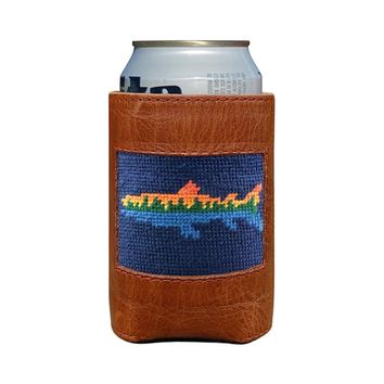 Lake Trout Needlepoint Can Cooler by Smathers & Branson