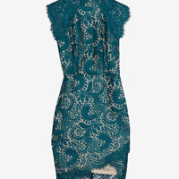 Lover Fitted Lace Dress: Teal-LOVER-CHIC THIS WEEK-What To Wear-Categories- IntermixOnline.com
