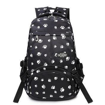 School Backpack Large Capacity School Bags for Teenagers Girls Satchel Women College Student Travel Bag Paw Printing Backpack mochilas AT_48_3