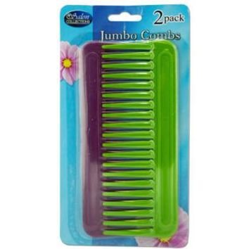 JUMBO WIDE TOOTHED COMBS- 2-PK