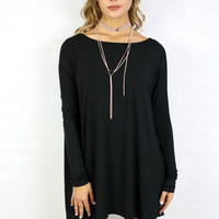 PIKO Kensington Black Long Sleeve Dress