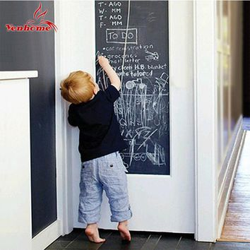45cmX200cm Creative Vinyl Chalkboard Sticker Removable Blackboard Wall Stickers for Kids Rooms Home Decor With Regular Chalks