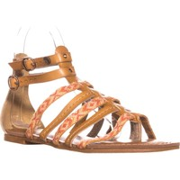 Roxy Emilia Strappy Gladiator Sandals, Tan, 6 US / 36 EU