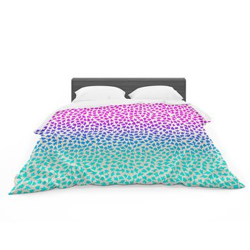 "Sreetama Ray ""Ombre Arrows"" Blue Pink Featherweight Duvet Cover"
