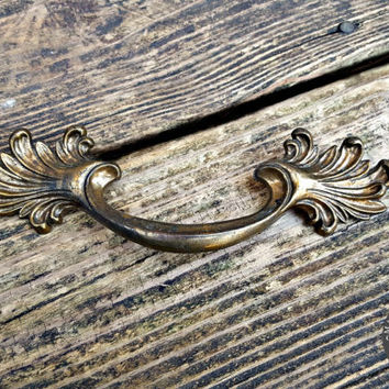 Victorian Bronze Drawer Pulls French Provincial Drawer Pulls Vintage Brass Drawer Pulls French Country Cottage KBC Furniture Hardware