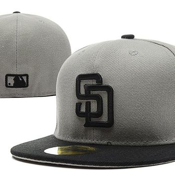San Diego Padres New Era 59FIFTY MLB Hat Grey-Black