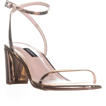 Nine West Provein Ankle Strap Block Heel Sandals, Pink, 5.5 US