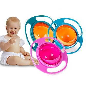 Baby Feeding Dish/ Bowl -High Quality Assist Toddler Baby Food Dinnerware For Kids Eating Training Gyro Bowl