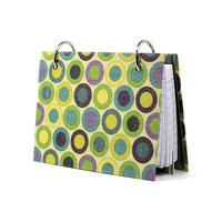 Retro circle design and stripe stylish laminated index card binder 339