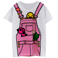 Overalls Print Loose T-Shirt