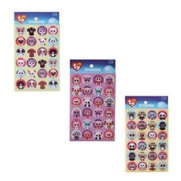 Beanie Boos Sticker Mega Pack: Pets, Jungle and Girly Sticker Sets