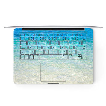 Blue Sea Ocean Apple MacBook Keyboard Keys Cover Decal Skin Sticker Protector Air Pro Retina Touch Bar | 3M | 11 12 13 15 17 inch