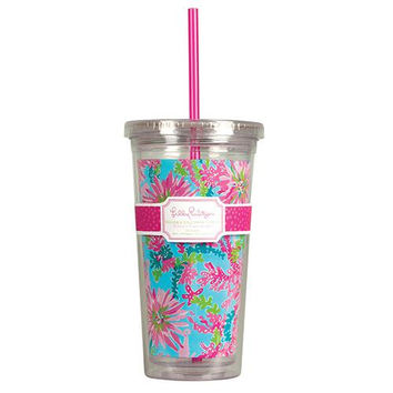 Tumbler with Straw in Trippin' and Sippin' by Lilly Pulitzer