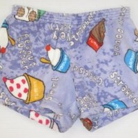 Fuzzy Made with Love and Kisses Blueberry Yogurt Boxer Shorts Made with Love and Kisses Fuzzy lounge shorts [Blueberry Yogurt Boxer Shorts] - $32.00 : Gotta Great Gift