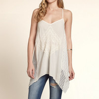 Asymmetrical Lace Tunic Tank
