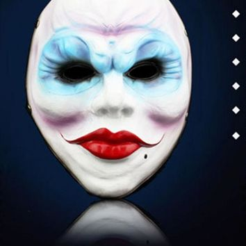 ESBONHS Halloween Horror Resin Full Face Masks The Game Harvest Day 2 Series Of Female Robbers Mask Masquerade Party Cosplay Props