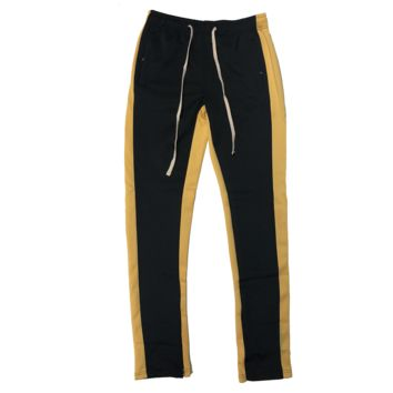 Black/Yellow Track Pants