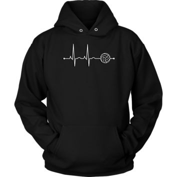 Volleyball Heartbeat Hoodie - Sports Gift