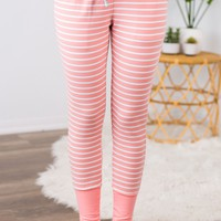 Pink Striped Loungers
