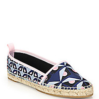 Fendi - Junia Jacquard Espadrille Flats - Saks Fifth Avenue Mobile