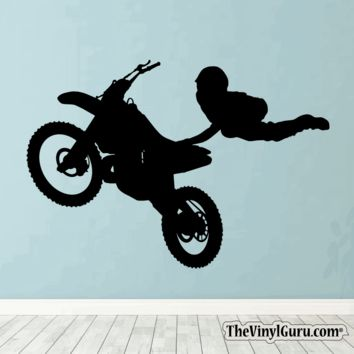 Motocross Wall Decal - Dirt Bike Sticker #00002