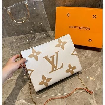 LV Louis Vuitton Newest High Quality Handbag Transparent Shoulder Bag Crossbody Satchel Beach Jelly Bag