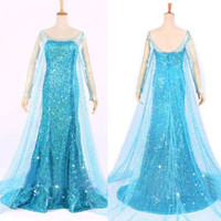 Elsa Queen Princess Adult Women Cocktail Party Dress Costume Elsa Dress