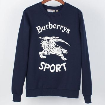 Burberry 2018 autumn and winter new logo embroidery round neck pullover sweater