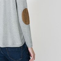 SWEATER WITH CONTRASTING ELBOW PATCHES - T - shirts - TRF | ZARA United States